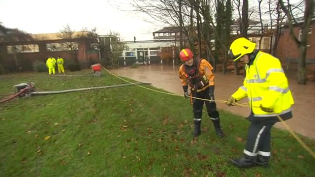 Fire crew at Northallerton's Friarage Hospital