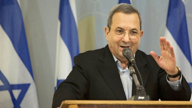 Israeli Defence Minister Ehud Barak