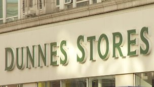 Dunnes Stores sign