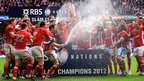 The Wales rugby union team celebrate winning the 2012 Six Nations and the Grand Slam after seeing off France in the final championship game in Cardiff