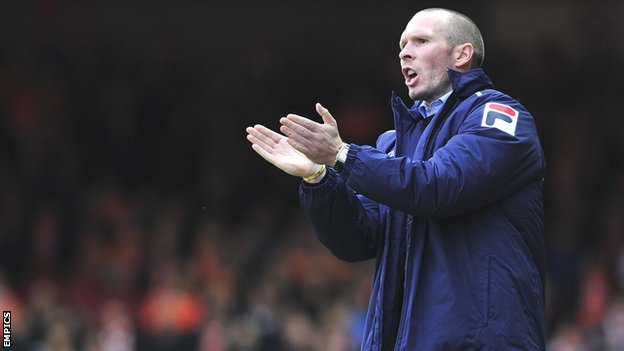 Blackpool manager Michael Appleton