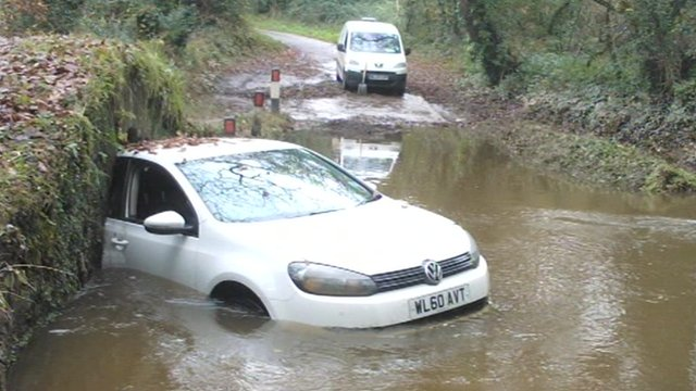 Flooding incident in Newquay