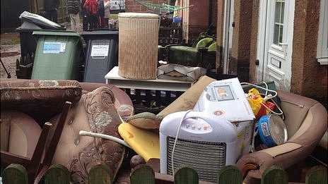 Possessions damaged by floodwater in Kennford