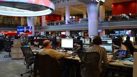 Newsroom at New Broadcasting House