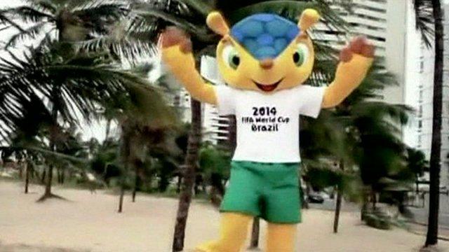 Fuleco - Brazil's World Cup armadillo mascot