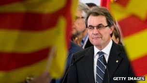 Catalan President Artur Mas in Barcelona