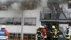 Fire at the building in Titisee-Neustadt, southern Germany, on 26/11/12
