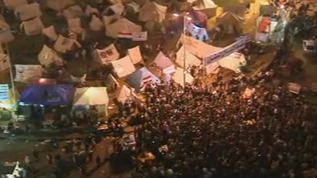 Protesters in Tahrir Square