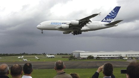 Airbus A380 at Filton