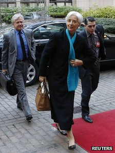 IMF chief Christine Lagarde in Brussels, 26 November