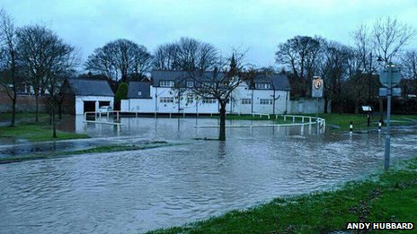 Flooding in Whitburn