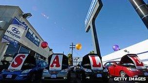 A Hyundai dealership in California