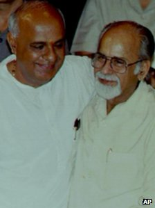 Former Indian Prime Minister HD Deve Gowda and Inder Kumar Gujral