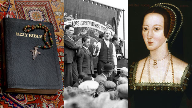 Bible, speaker at trade union rally, Anne Boleyn