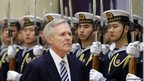Ray Mabus inspects the guard of honour 