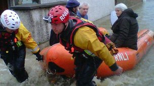 RNLI team in St Asaph