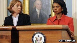 Tzipi Livni with Condoleezza Rice in 2009