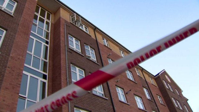 The woman fell from the window of Spring Meadow flats complex
