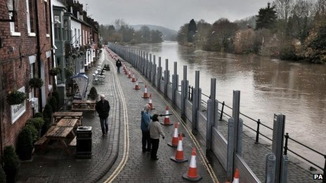 Bewdley flood barriers