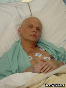 File photo of Alexander Litvinenko at the Intensive Care Unit of University College Hospital, in London, on 20 November 2006