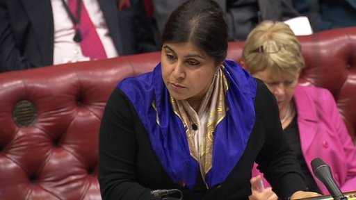 Government spokeswoman Baroness Warsi