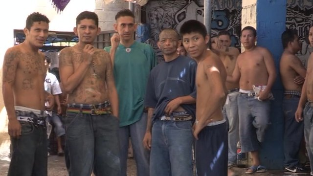 Inmates at Ciudad Barrios, San Salvador