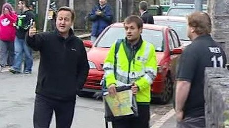 David Cameron in Buckfastleigh