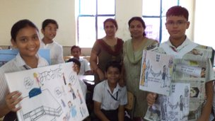 Pupils from Khaitan Public School in Sahibabad, India took park in the live World Class debates