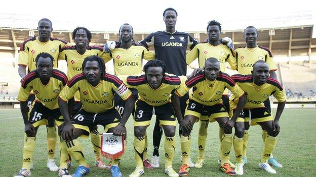 Uganda's team at the 2012 Cecafa Senior Challenge