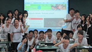 Shawlands pupils discussed their partnership online with schools across the globe - including Wunshan Senior High School in Taiwan