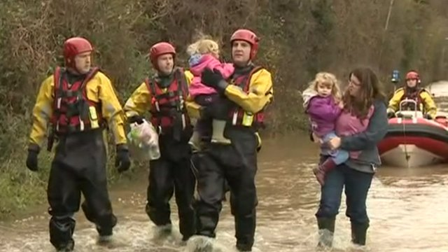 Family rescued in Sandhurst