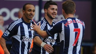 Peter Odemwingie, Shane Long and James Morrison