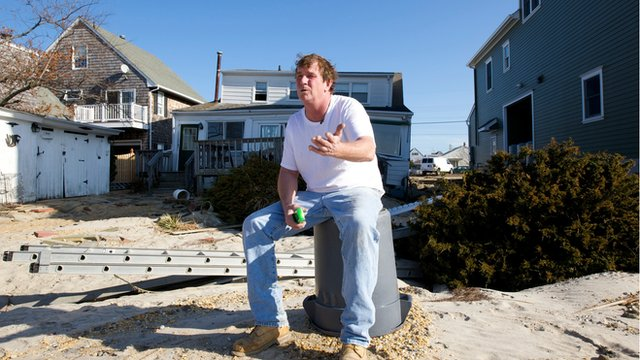 Bill Carroll outside his home in Ortley Beach, New Jersey