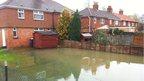 Flooded garden on the Abingdon Road