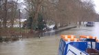 River Thames and Christchurch Meadow, from Folly Bridge, Oxford, during the flooding