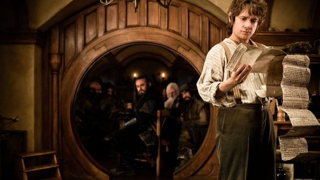Martin Freeman as Bilbo Baggins in Peter Jackson's  film, The Hobbit: An Unexpected Journey