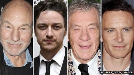 Patrick Stewart, James McAvoy, Ian McKellen and Michael Fassbender