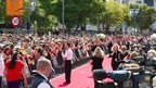 Fans packing the area around the red carpet ahead of the world premiere of the The Hobbit in Courtenay Place in Wellington, 28 November 2012
