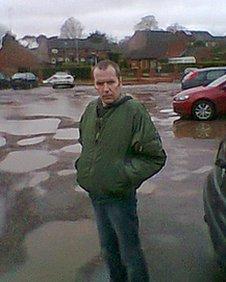George Wallis standing in North Walsham's Mundesley Road car park