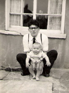 Bernard as a baby with his father