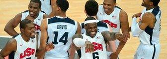 USA players celebrate winning London 2012 Olympic gold