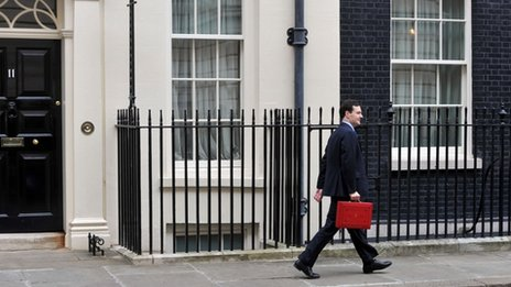 George Osborne at Downing Street on Budget Day