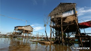 House on stilts, Myanmar