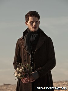 Jeremy Irvine as Pip in the 2012 film version of Great Expectations
