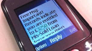 Spam text message