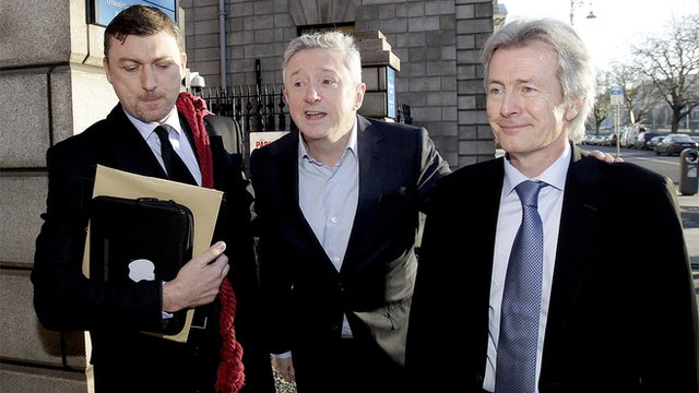 Louis Walsh outside the Hugh Court in Dublin