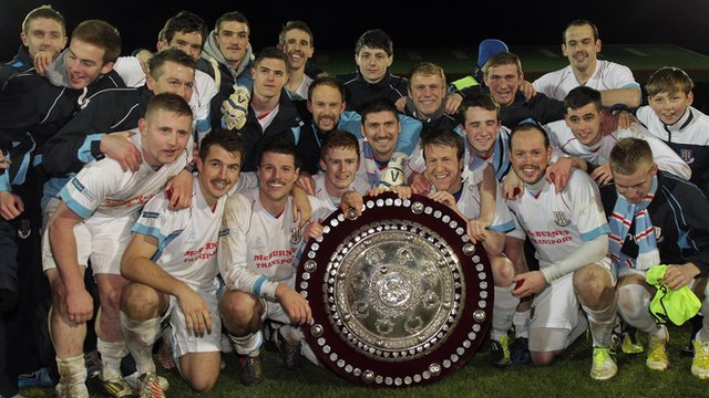 Ballymena United with the County Antrim Shield