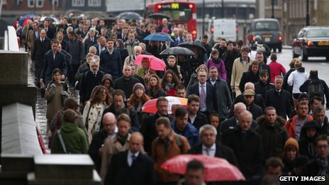 Commuters at London Bridge
