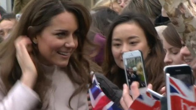 Kate, Duchess of Cambridge in Cambridge