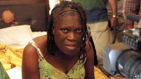 Simone Gbagbo photographed in April 2011 at the time of her capture in Abidjan